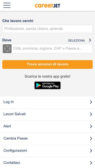 Mobile preview of careerjet.it