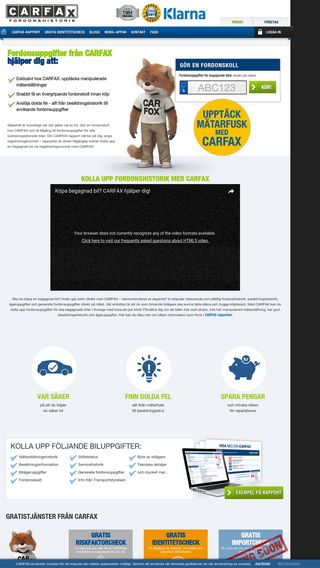 Mobile preview of carfax.se