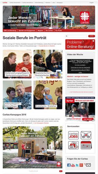 Mobile preview of caritas.de