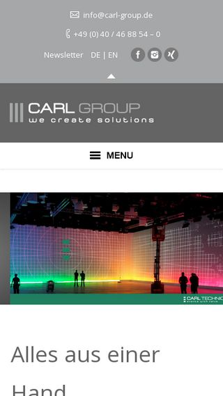 Mobile preview of carl-group.de