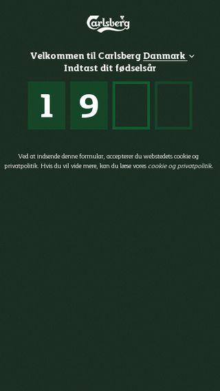 Mobile preview of carlsberg.dk
