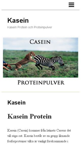 Mobile preview of casein.n.nu