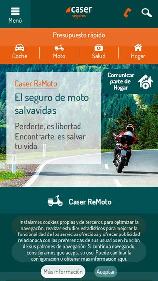 Mobile preview of caser.es