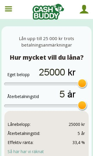 Mobile preview of cashbuddy.se