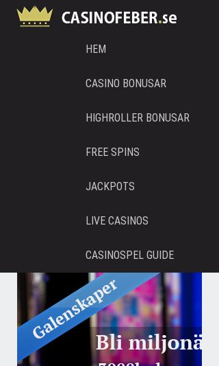 Mobile preview of casinofeber.se