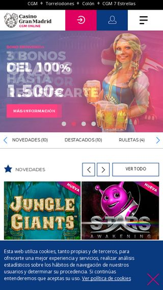 Mobile preview of casinogranmadridonline.es