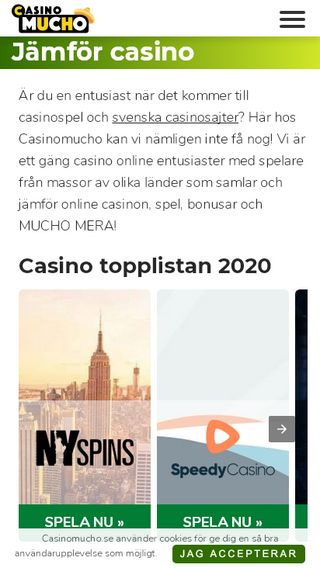 Mobile preview of casinomucho.se