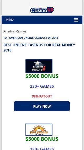 Mobile preview of casinous.com