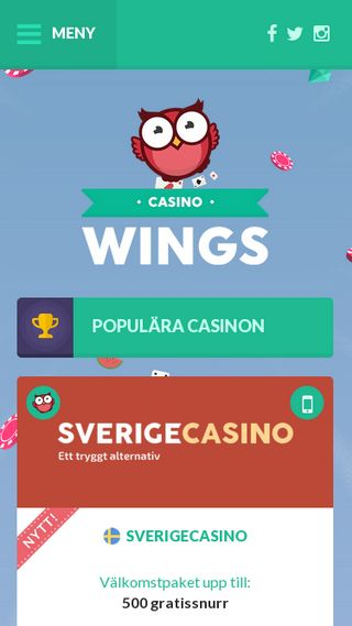 Mobile preview of casinowings.se
