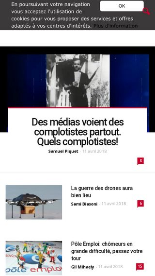 Mobile preview of causeur.fr
