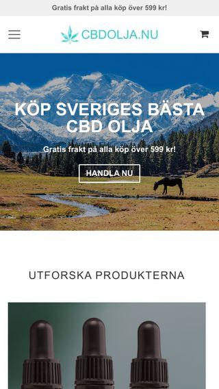 Mobile preview of cbdolja.nu