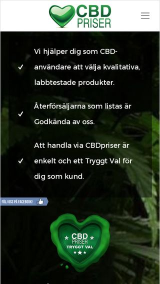 Mobile preview of cbdpriser.se