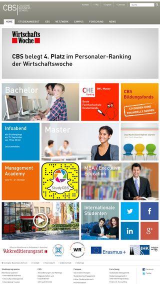 Mobile preview of cbs.de