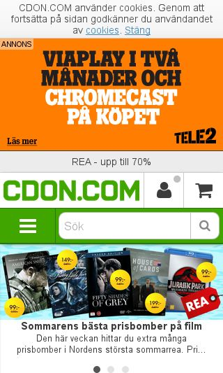 Mobile preview of cdon.se