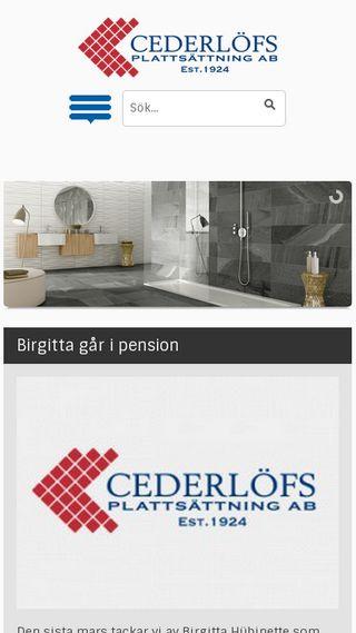 Mobile preview of cederlofsplattsattning.se