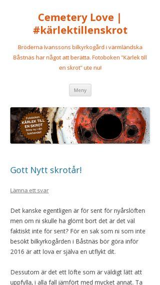 Mobile preview of cemeterylove.se