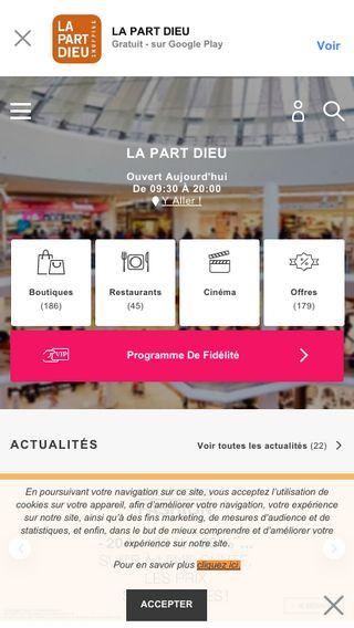 Mobile preview of centrecommercial-partdieu.com