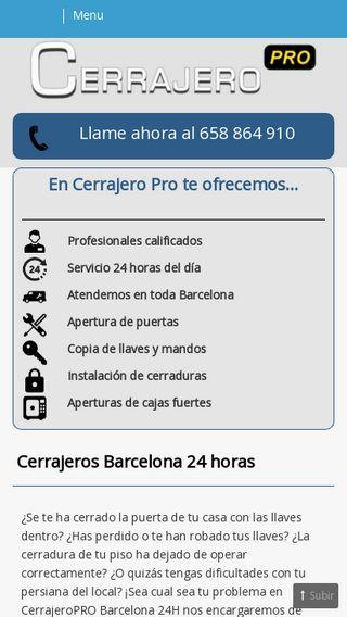 Mobile preview of cerrajeros-24h.barcelona