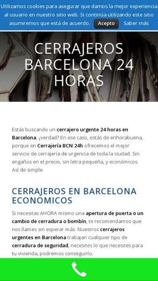 Mobile preview of cerrajerosbcn24h.barcelona