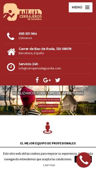 Mobile preview of cerrajerosdeguardia.com