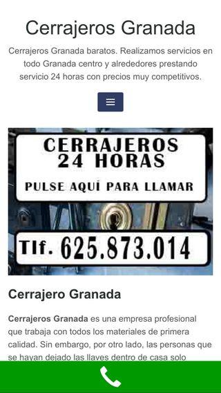 Mobile preview of cerrajerosengranada.es