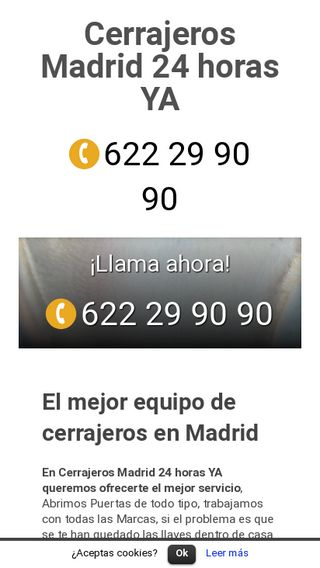 Mobile preview of cerrajerosmadrid24horasya.es