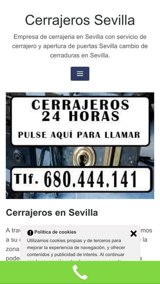 Mobile preview of cerrajerossevilla.es