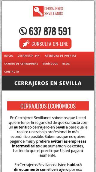 Mobile preview of cerrajerossevilla.pro