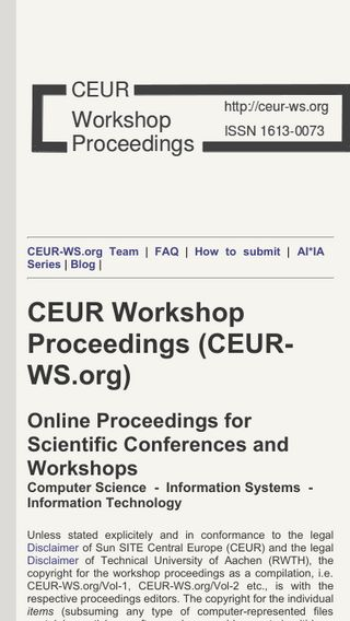 Mobile preview of ceur-ws.org