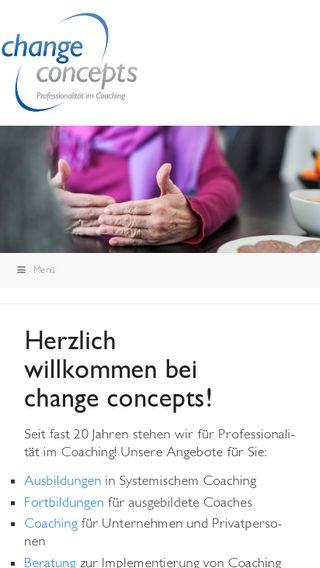 Mobile preview of change-concepts.de