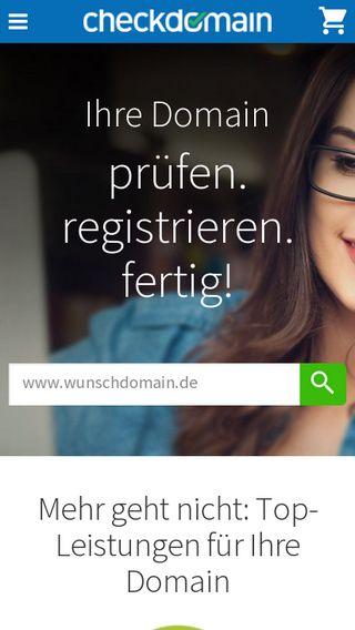 Mobile preview of checkdomain.de