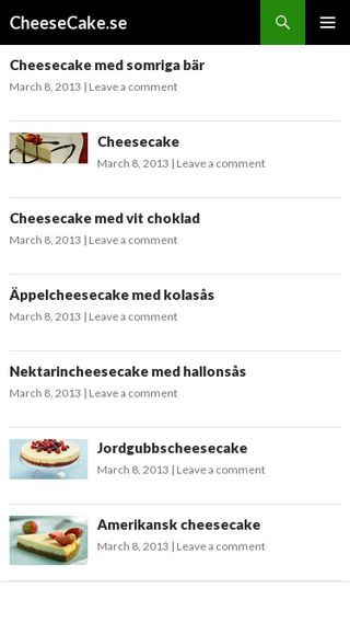Mobile preview of cheesecake.se