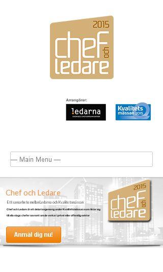 Mobile preview of chef-ledare.se