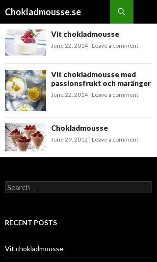 Mobile preview of chokladmousse.se