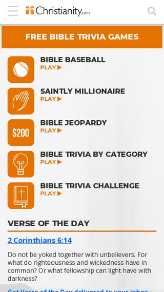Mobile preview of christianity.com
