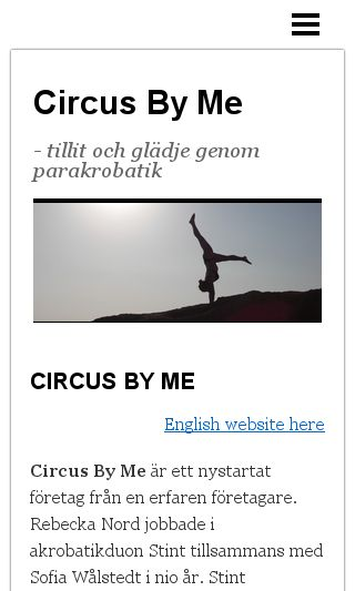 Mobile preview of circusbyme.se