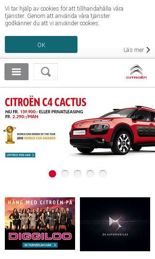 Mobile preview of citroen.se