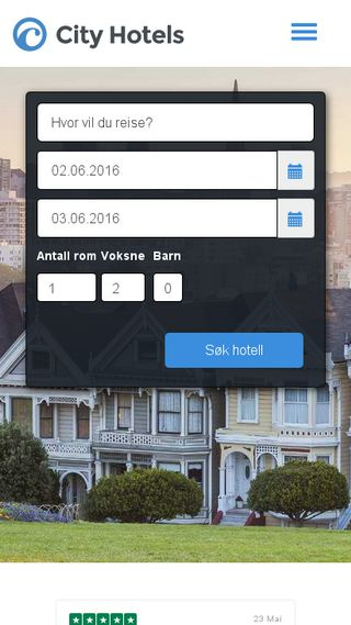 Mobile preview of cityhotels.no
