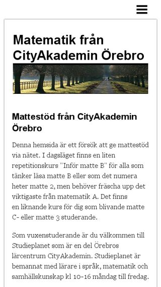 Mobile preview of citymatte.n.nu