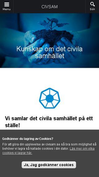 Mobile preview of civsam.se
