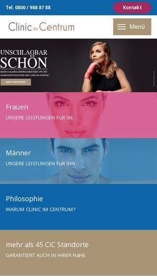 Mobile preview of clinic-im-centrum.de