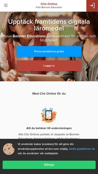 Mobile preview of clioonline.se