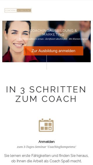 Mobile preview of coachingausbildung-akademie.de