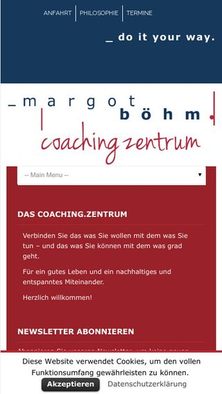 Mobile preview of coachingzentrum.de