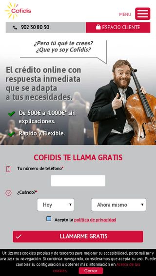 Mobile preview of cofidis.es
