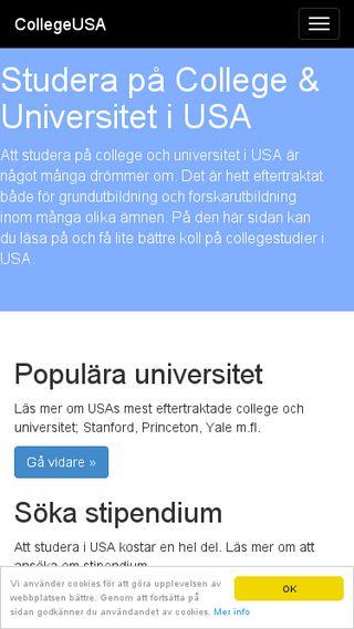 Mobile preview of collegeusa.se
