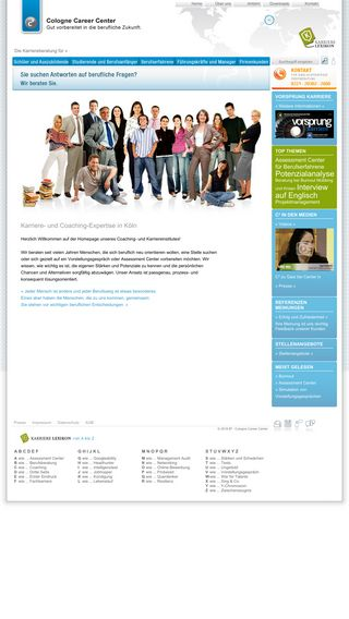 Mobile preview of colognecareercenter.de