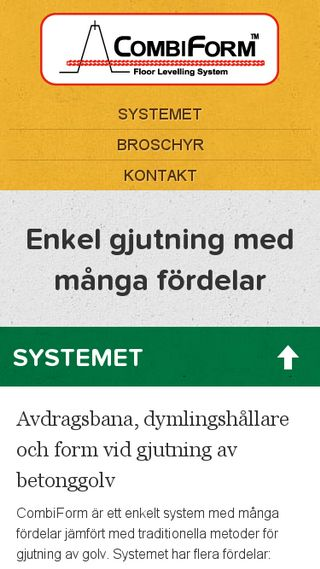 Mobile preview of combiform.se
