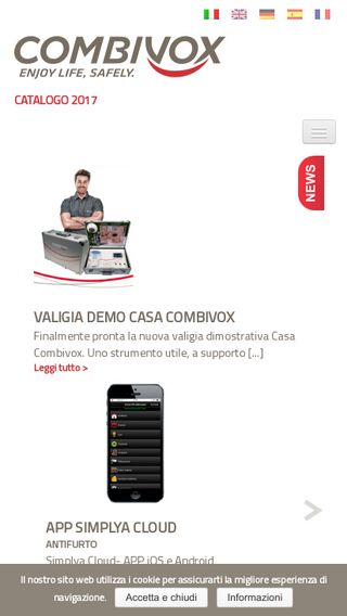 Mobile preview of combivox.it