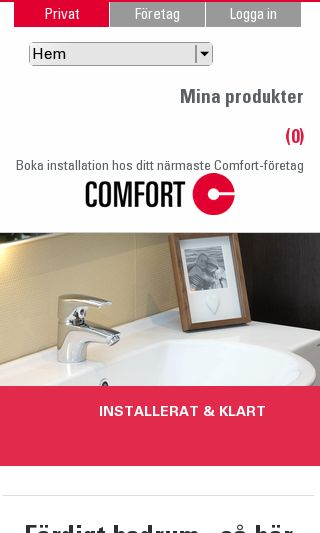 Mobile preview of comfort.se